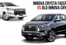 Innova Crysta Facelift vs Old Innova Crysta