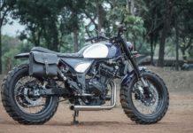 Kawasaki Ninja modified scrambler 0