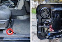 Mahindra Thar aftermarket keyless fuel lid opener