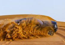 Rolls Royce Cullinan Sapphire Black dune-bashing