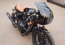 Royal Enfield Interceptor modified into cafe racer