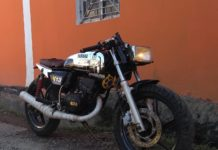 modified Yamaha RX 135 front angle