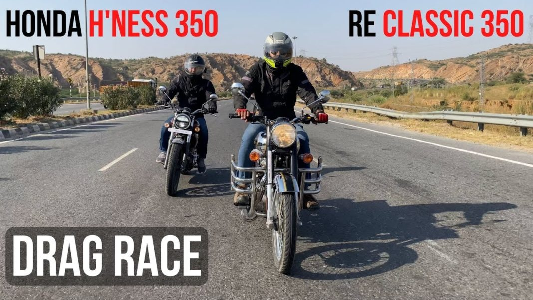 Honda Highness CB350 VS Royal Enfield Classic 350 performance comparison