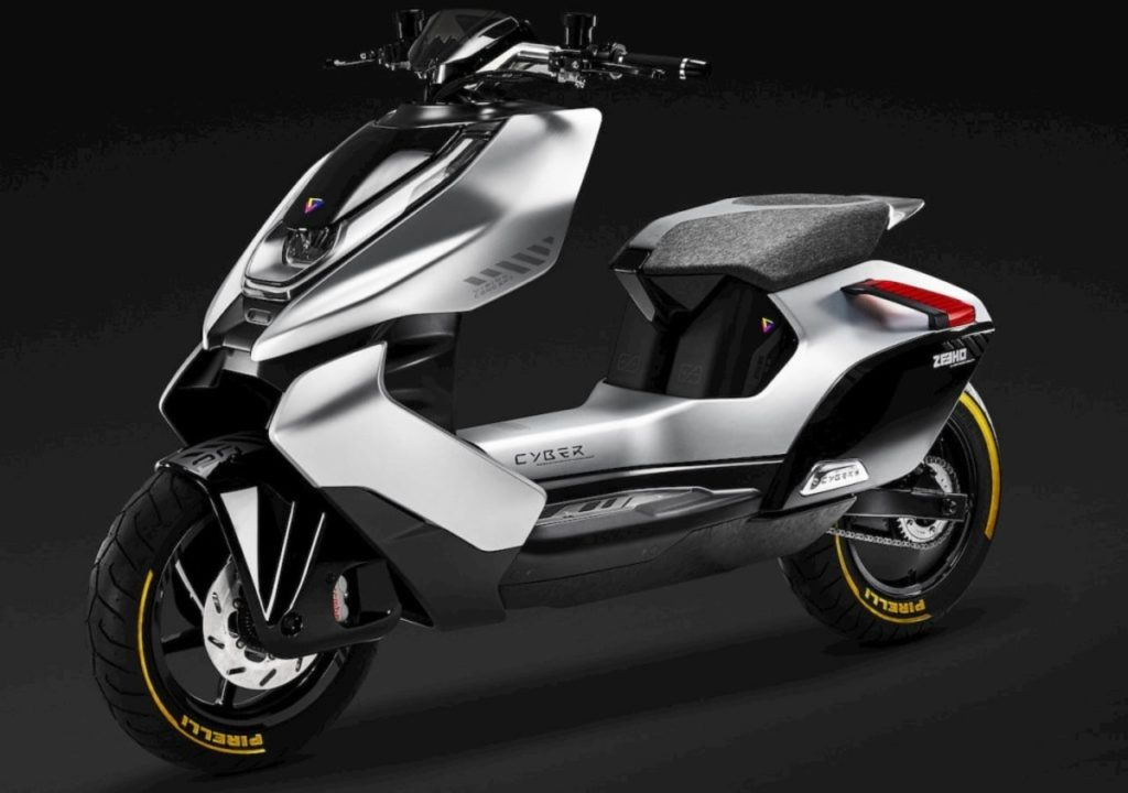CFMoto Zeeho Cyber Concept front angle