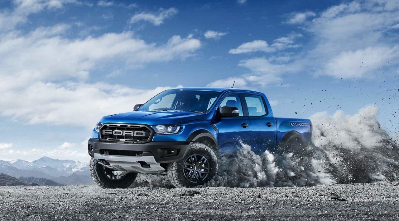 Ford Ranger Raptor off road pickup truck