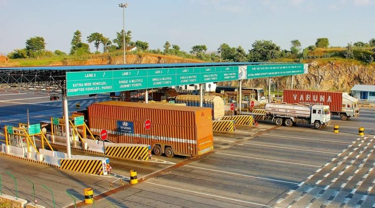 Indian highway toll booth