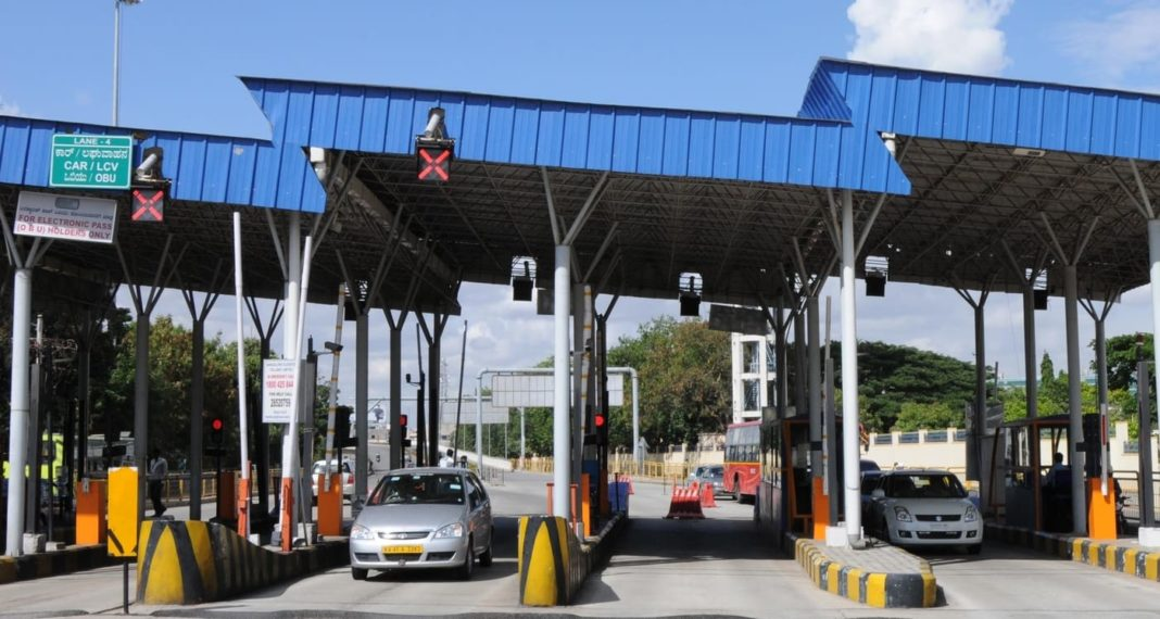 Indian highway toll plaza