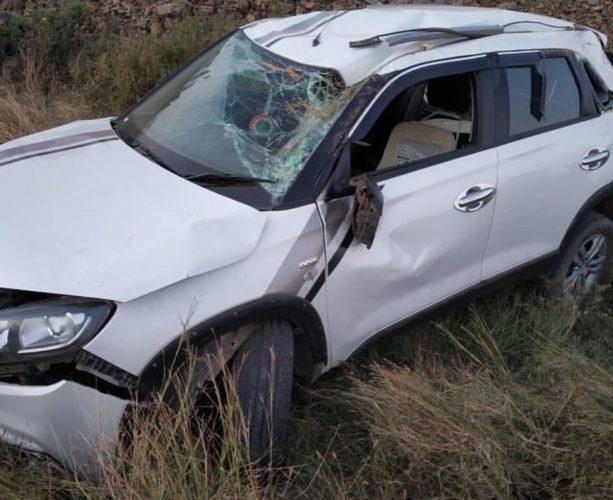 Maruti Brezza accident 2