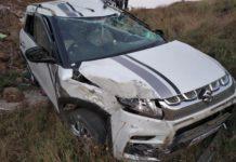 Maruti Brezza accident