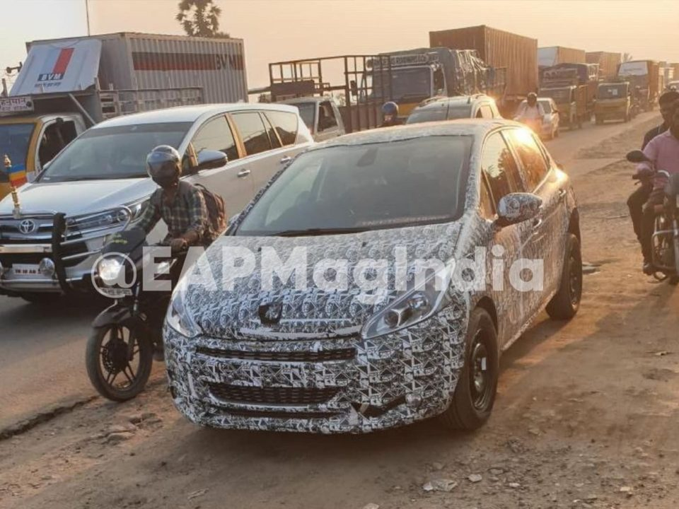 Peugeot 208 spied India front