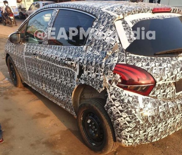 Peugeot 208 spied India rear
