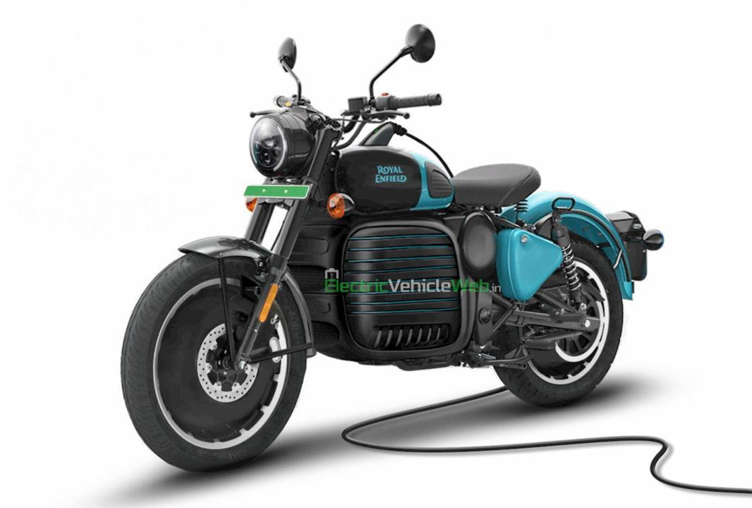 Рендеринг электрического мотоцикла Royal Enfield