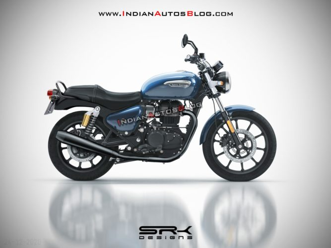 Royal Enfield Interceptor 350 rendering