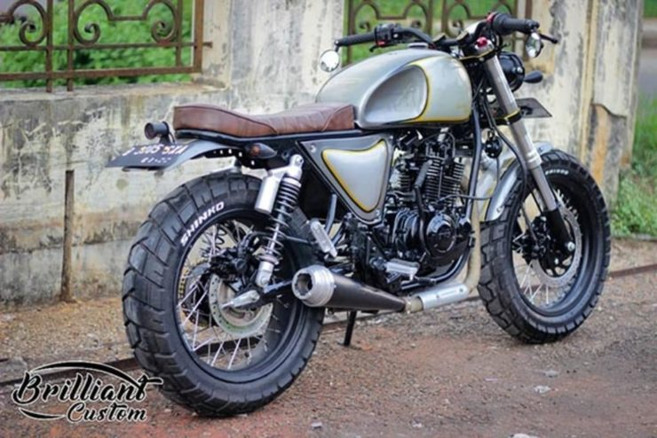 TVS Apache modified scrambler 3