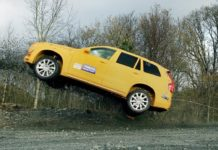 Volvo cars crash testing