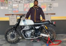 custom Royal Enfield Continental GT 650 Scrambler build