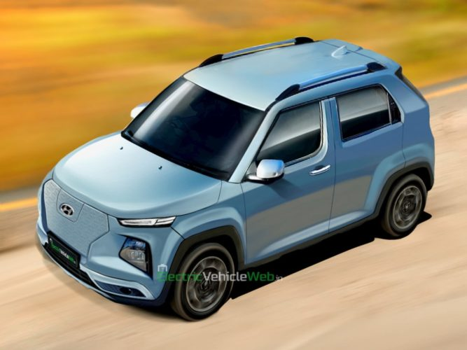 upcoming Hyundai electric car rendering