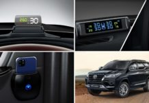 2021 Fortuner Official Accessories Launched – Head-Up Display, TPMS, DVR-1