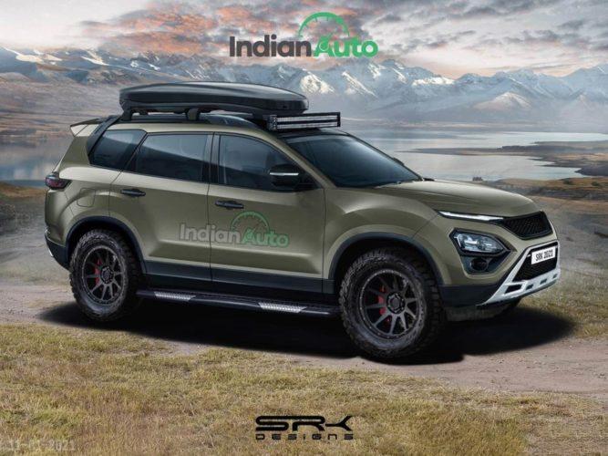2021 Tata Safari Off Road rendering