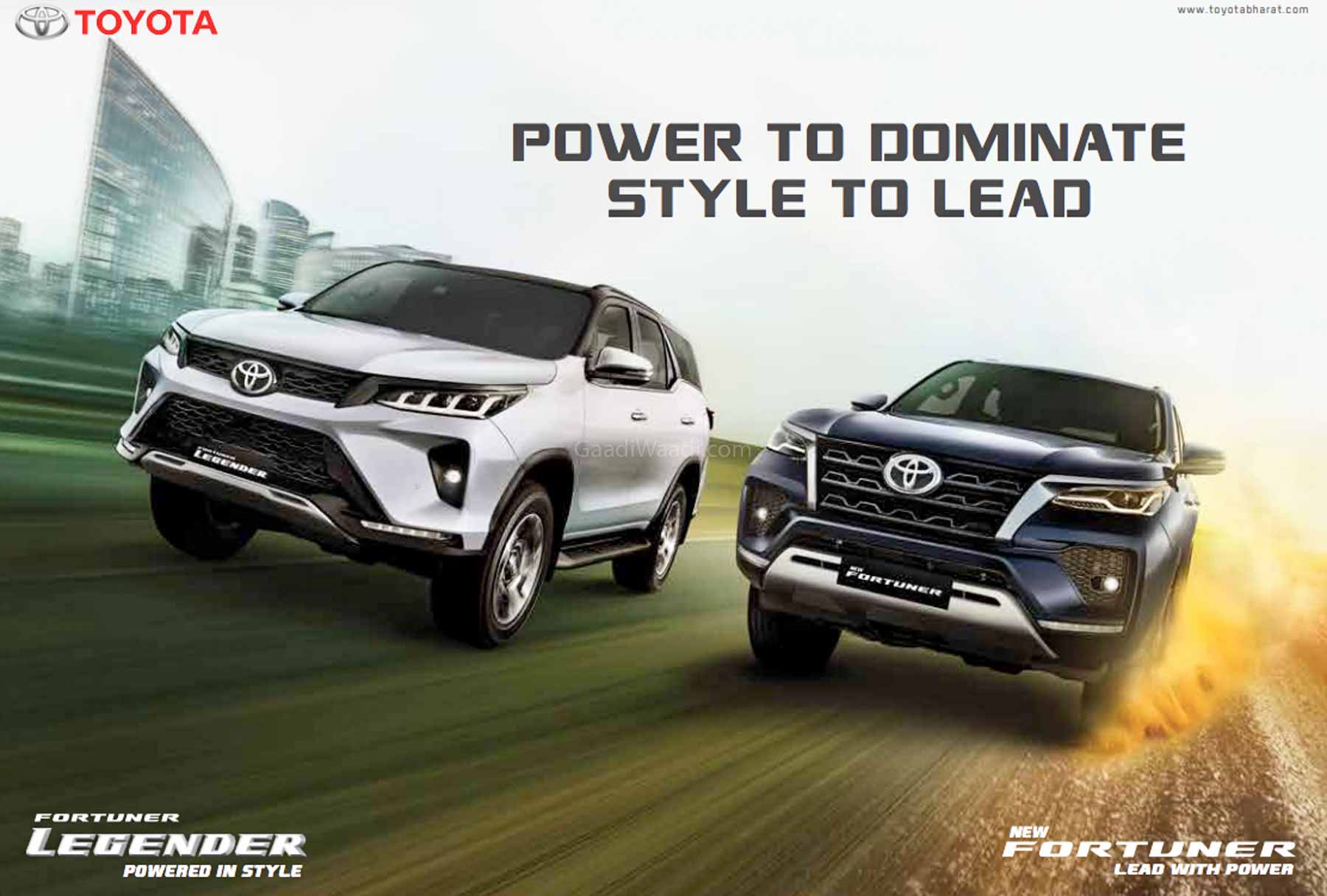 Toyota Fortuner Facelift And Legender Cross 5,000 Bookings In India - GaadiWaadi.com