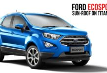 Ford Ecosport sunroof
