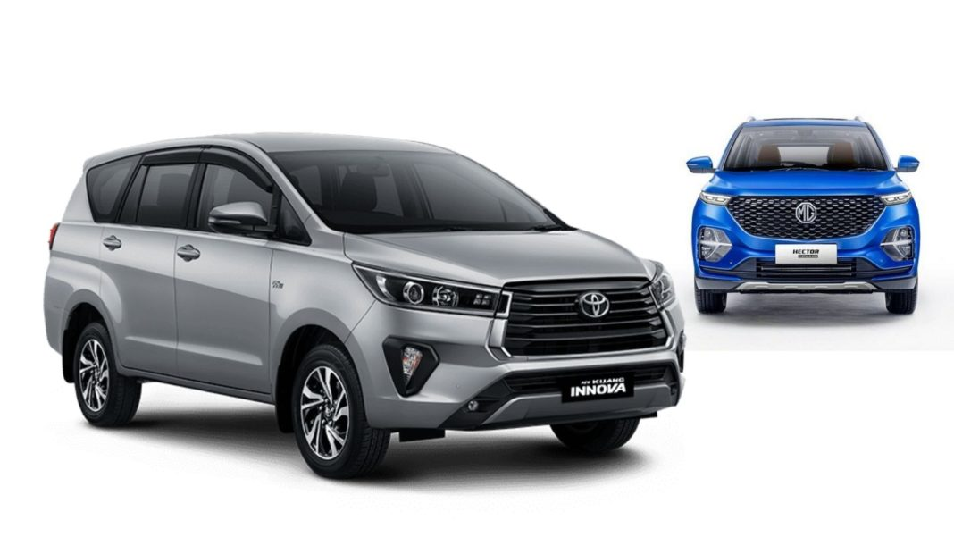 MG Hector Plus 7-Seater Vs Toyota Innova Crysta