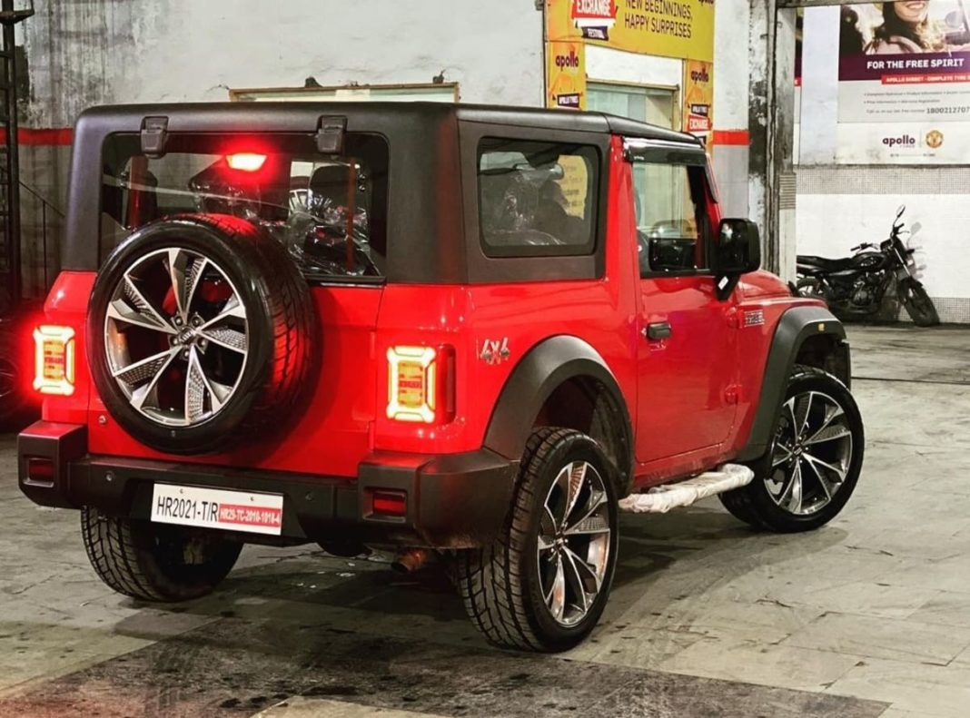 Mahindra Thar modified 20 inch wheels 2