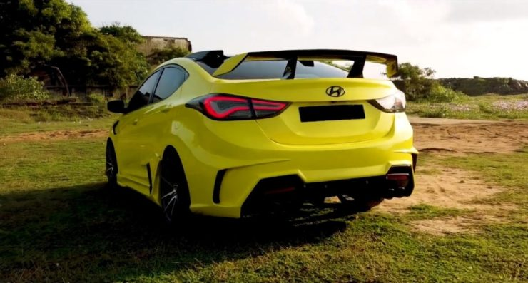 modified Hyundai Verna rear angle