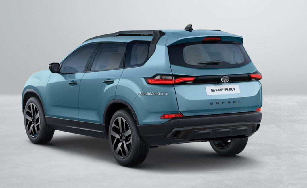 2021 Tata Safari Adventure rear angle