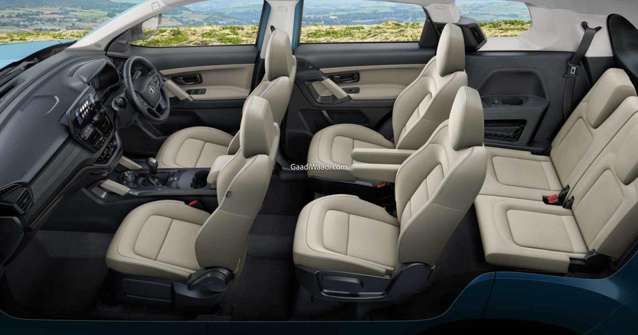 2021 Tata Safari Adventure interior