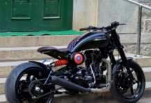 Custom built royal enfield Americana