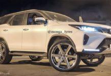 Toyota Fortuner Legender 24 inch alloy wheels 1