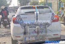 Toyota Glanza hybrid spied 1