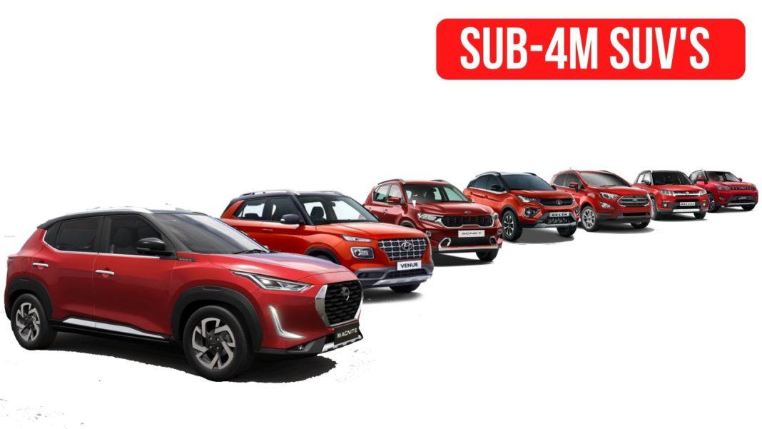 Top 10 Selling Sub 4m Suv In Feb 2021 Brezza Venue Sonet Nexon