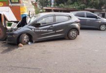 Tata Altroz head on collision truck 2