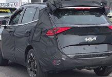 2022 Kia Sportage rear spied undisguised