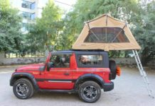 Mahindra thar custom roof tent
