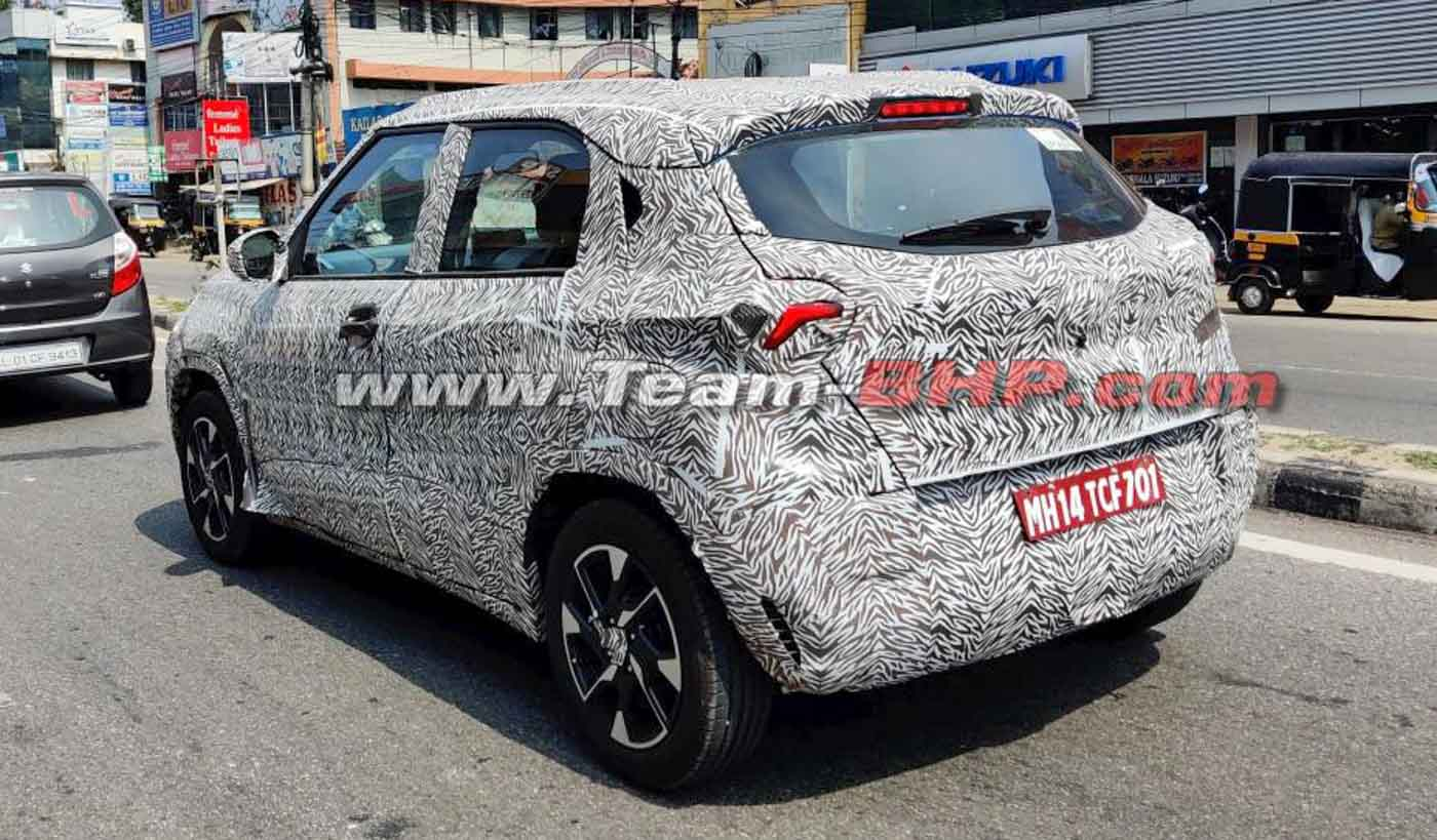 Tata HBX Front Fascia and Dual Tone Alloy Wheels Revealed in New Spy Shots