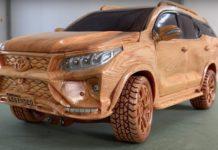 Wood Carved Toyota Fortuner Legender