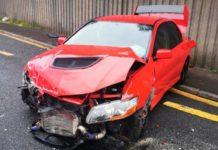 2006 Mitsubishi Lancer Evo IX crash front angle