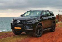 2021 Toyota Fortuner all-black exterior
