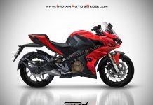 Bajaj Pulsar RS250 rendering red