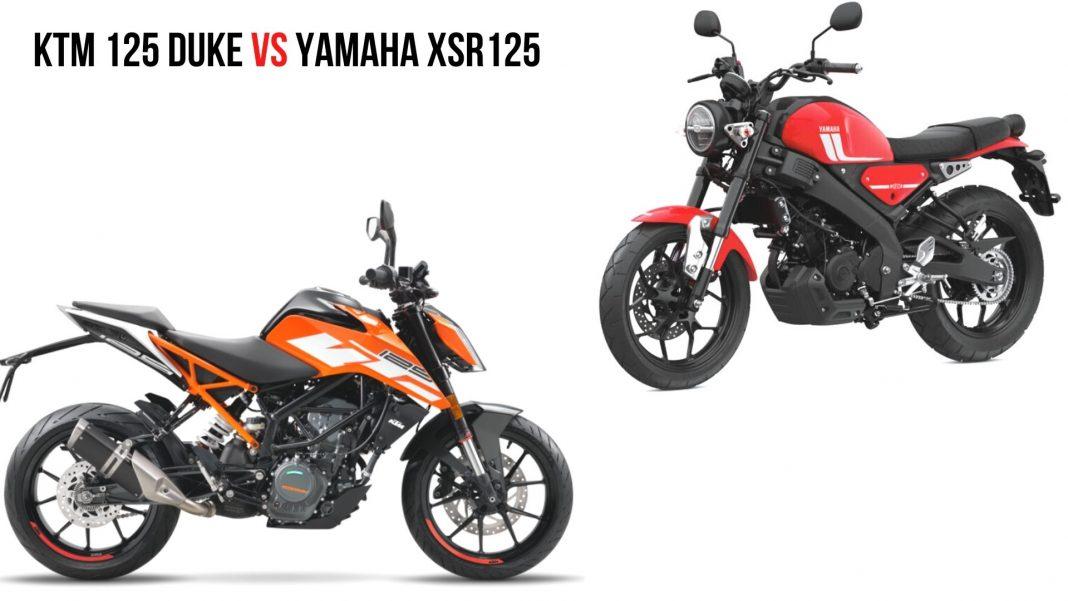 KTM 125 Duke Vs Yamaha XSR125