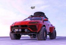 Lamborghini Urus off-road rendering