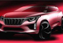 Mahindra 5-seater SUV sketch
