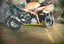Next generation KTM RC390 spied side profile