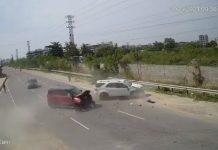 Toyota Fortuner Mahindra TUV300 accident