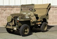 Willys Jeep children's car front angle