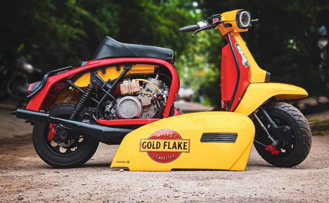 Yambretta 350 modified scooter
