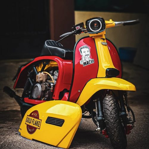 Yambretta 350 modified scooter 5